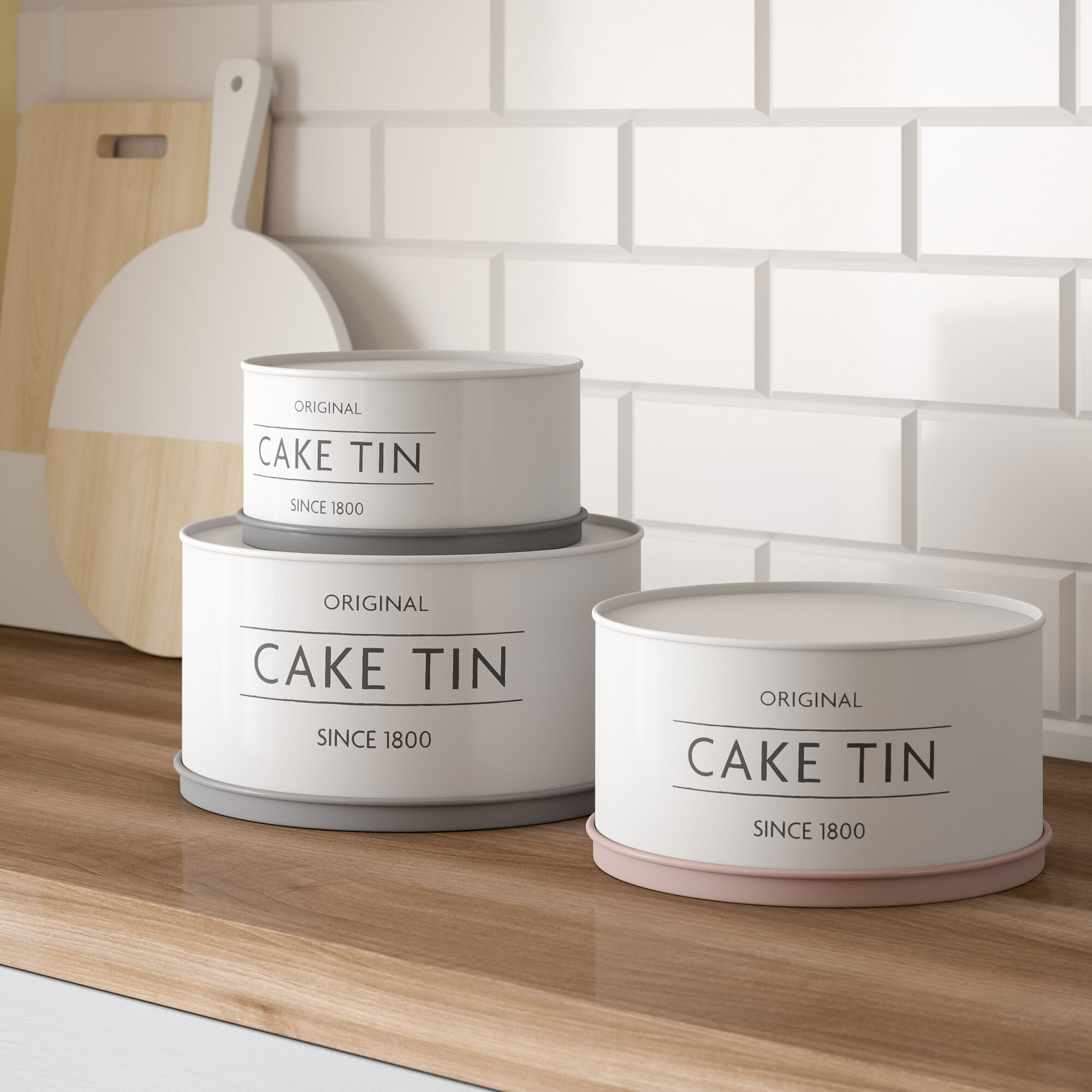 Stacking Upside Down Cake Tins Mason Cash Innovative Kitchen Cream Cake Tins