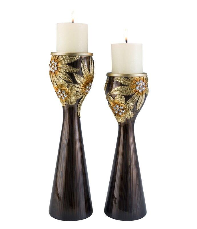 Astoria Grand Fogel 2 Piece Candlestick Set Wayfair