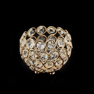 Ball Crystal Votive Holder by House of Hampton Cheap