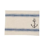 """Stoneleigh Anchor Feed Sack 19"""" Cotton Placemat (Set of 6)"""