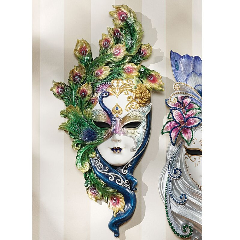 Mask Of Venice Peacock Wall Décor
