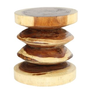 Sono Wood Rib End Table by Ibolili