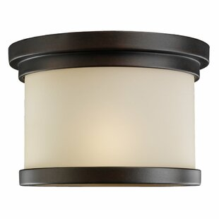 Online Reviews Dashiell 1-Light Outdoor Flush Mount By Three Posts