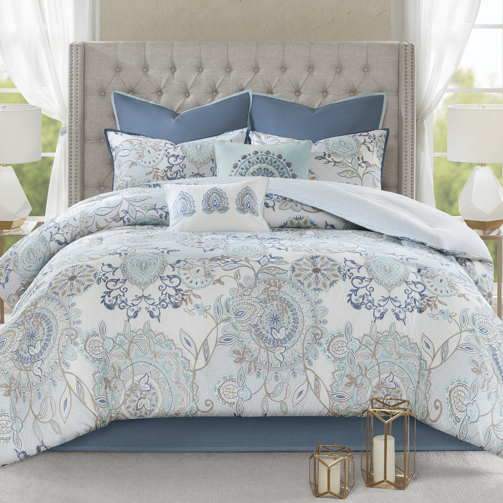 Charlton Home Kinsley Reversible Comforter Set Reviews Wayfair