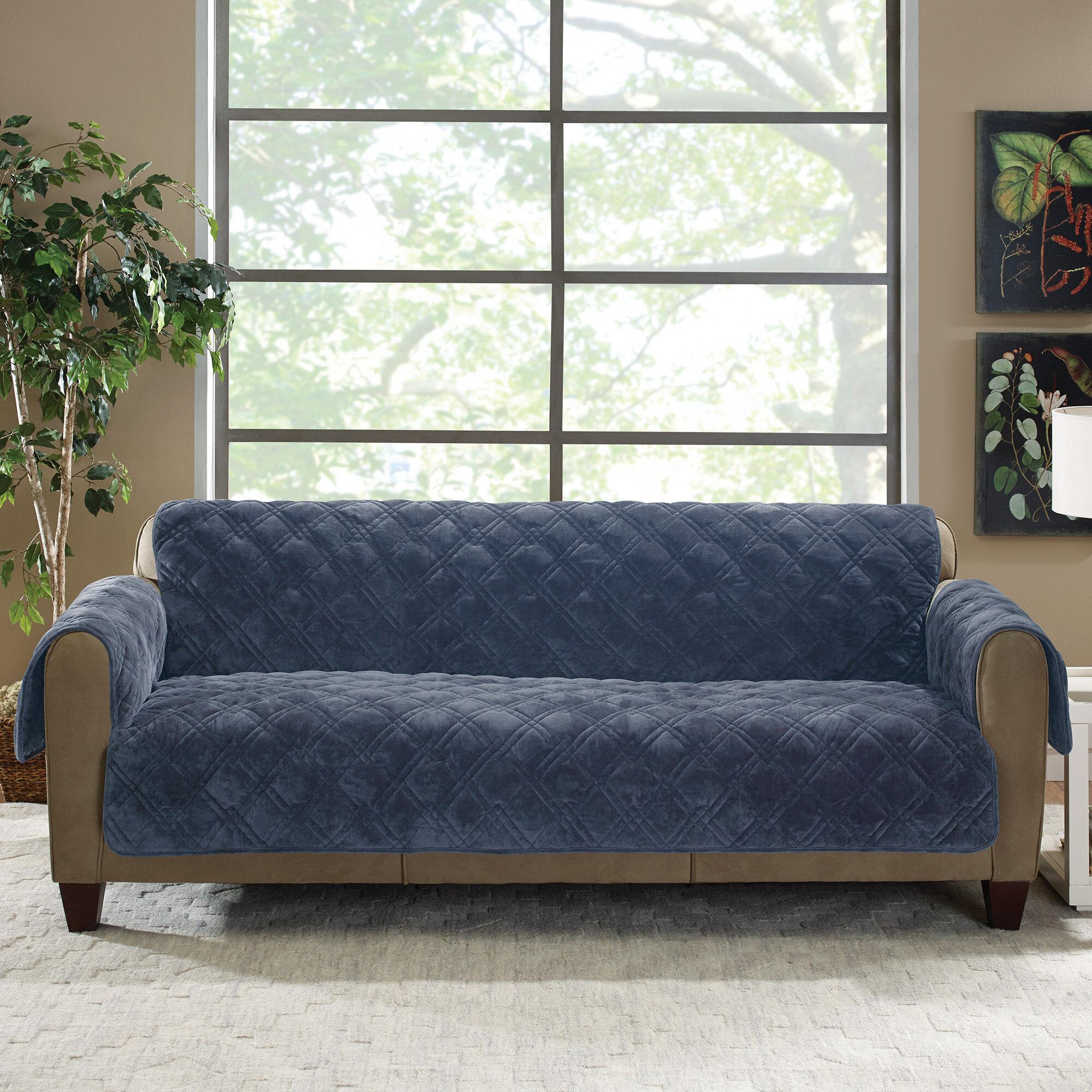 Sure Fit Plush Comfort Sofa Slipcover U0026 Reviews | Wayfair