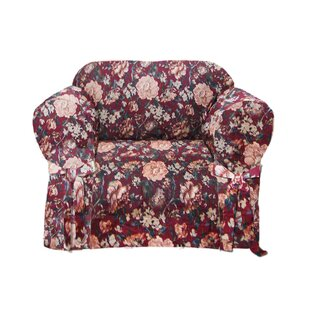 Tapestry Box Cushion Armchair Slipcover by Textiles Plus Inc.