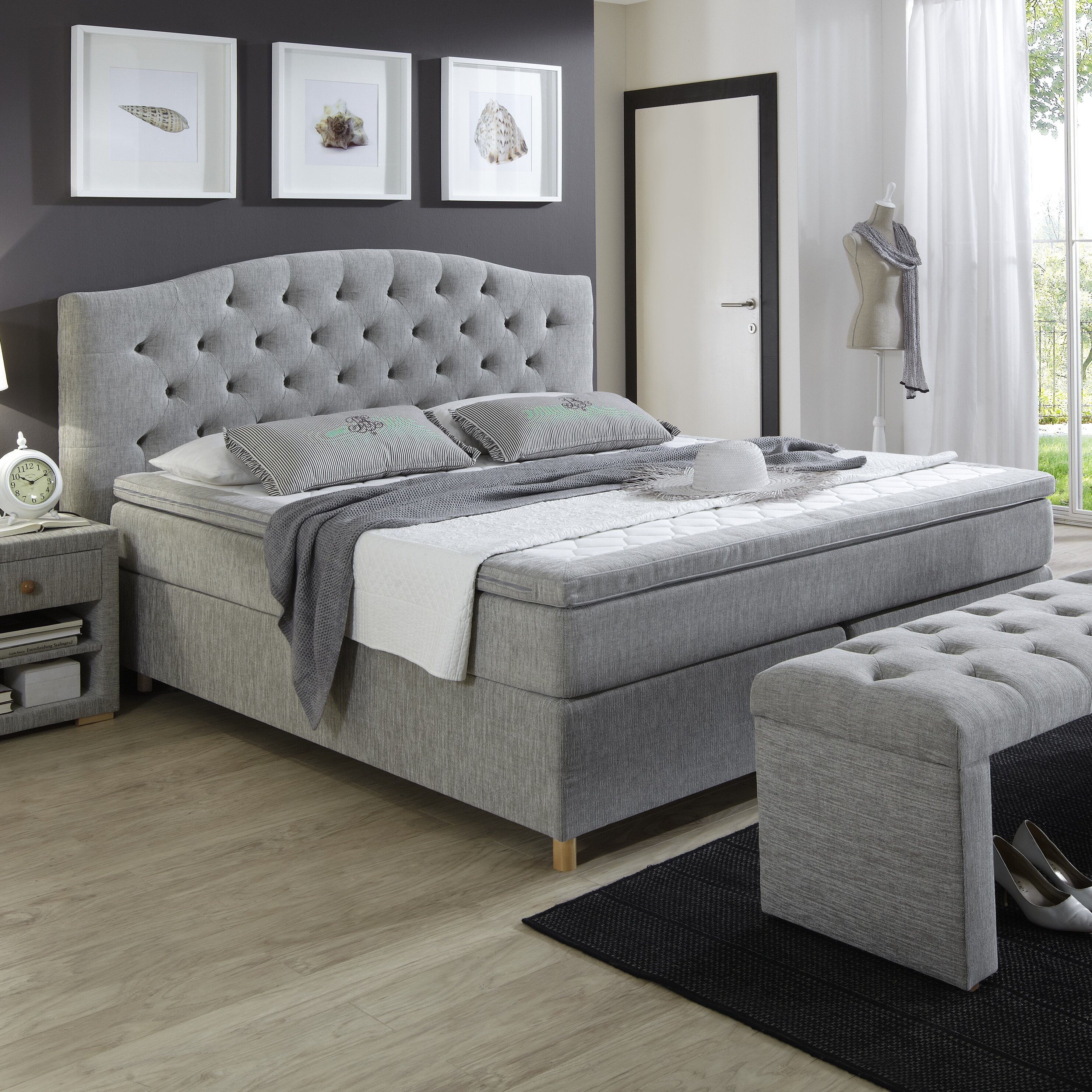 Atlantic Home Collection Boxspringbett Claire mit Topper, 180 x 200 ...