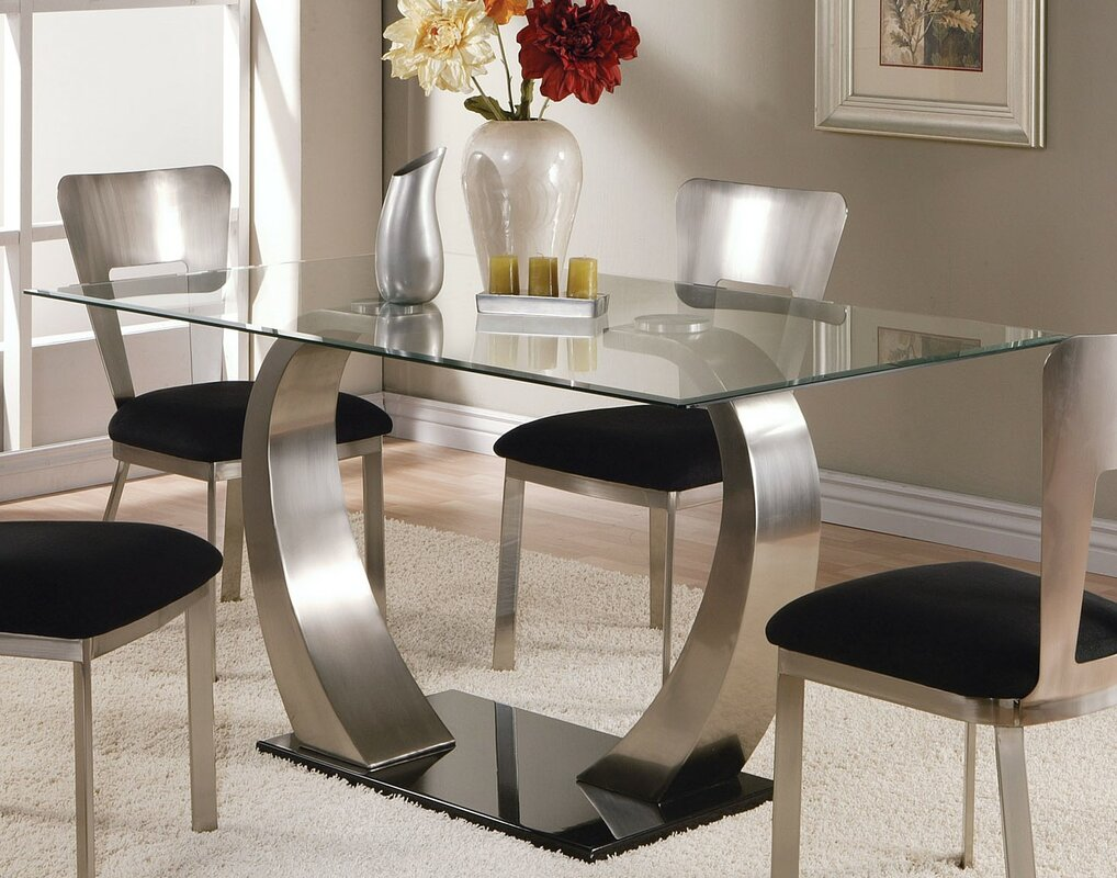 Emma Dining Table. Glass Kitchen   Dining Tables You ll Love   Wayfair