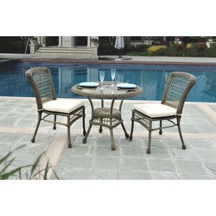 Panama Jack Outdoor Carolina Beach 3 Piece Bistro Set