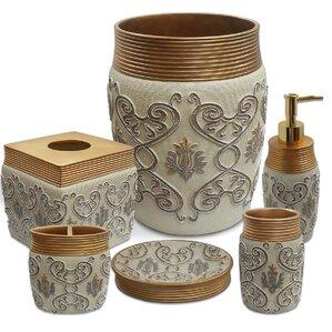 savoy 6 piece bath accessory set