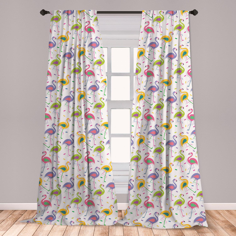 East Urban Home Flamingo Polka Dot Room Darkening Rod Pocket Curtain Panels Wayfair
