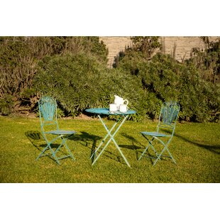 Segars Peacock Feather 3 Piece Bistro Set