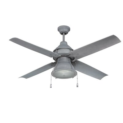 17 Stories 52 inch Martika 4 Blade Outdoor LED Ceiling Fan Light Kit Included