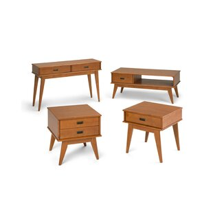 Halvorson 4 Piece Coffee Table Set