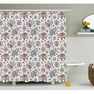 Delmer Oriental Ethnic Design Single Shower Curtain