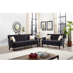 Compare Easthampton 2 Piece Living Room Set by Charlton Home Reviews (2019) & Buyer's Guide