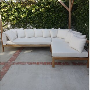 Jerrie Patio Sectional with Sunbrella Cushions by Corrigan Studio