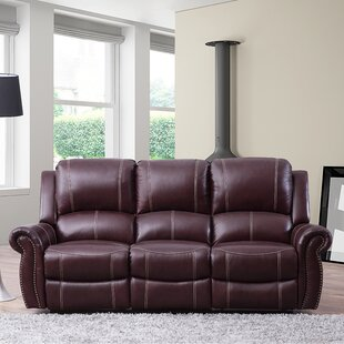 Lopp Leather Reclining Sofa by Red Barrel Studio Herry Up