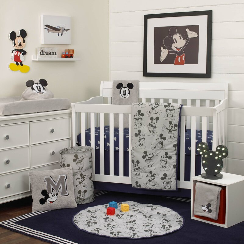 Disney Mickey Mouse Nursery 6 Piece Crib Bedding Set Wayfair