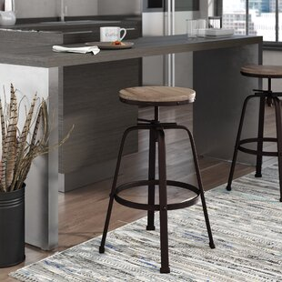 Mullings Adjustable Height Bar Stool by Williston Forge