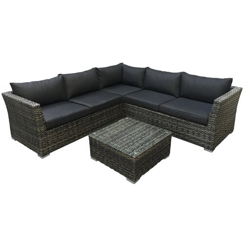 5-Sitzer Lounge-Set Juliet aus Polyrattan mit Polster Garten Living | Garten > Gartenmöbel > Loungemöbel-Garten | Garten Living
