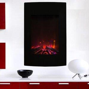 Nadya Wall Mount Electric Fireplace by Orren Ellis