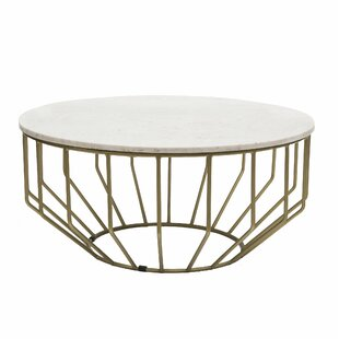 Singletary Marble Round Coffee Table Everly Quinn