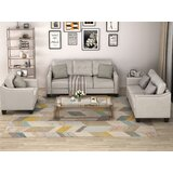 Bordner 3 Piece Living Room Set with Cushion by Red Barrel Studio®