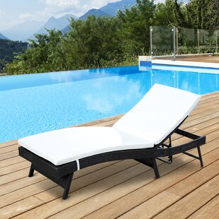 Alvina Reclining Chaise Lounge with Cushion
