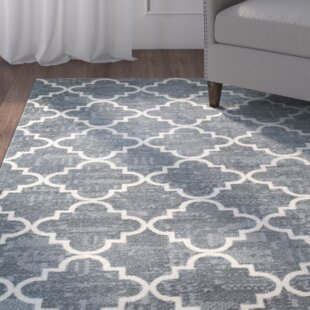 Alden Fancy Trellis Gray/White Area Rug By Grovelane Teen