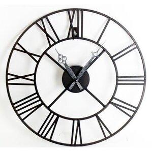 roman numeral 40cm metal wall clock