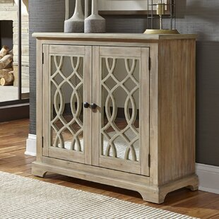 Canales 2 Door Mirrored Accent Cabinet by Bungalow Rose