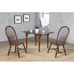 Kenya 3 Piece Drop Leaf Solid Wood Dining Set by August Grove