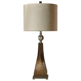 Best Deals Kimberly Hammered Resin Metal and Acrylic Transitional 40 Table Lamp By World Menagerie