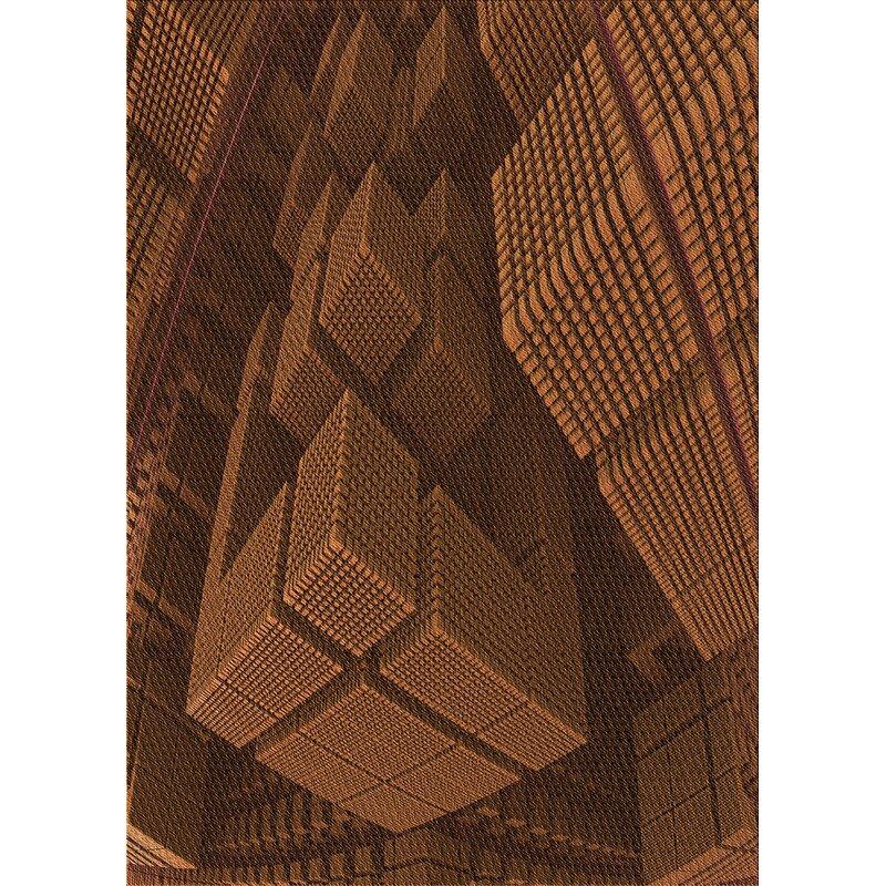 East Urban Home Geometric Wool Brown Area Rug