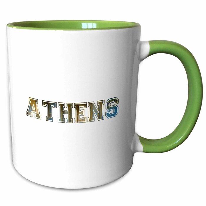 East Urban Home Athens Text Word Art