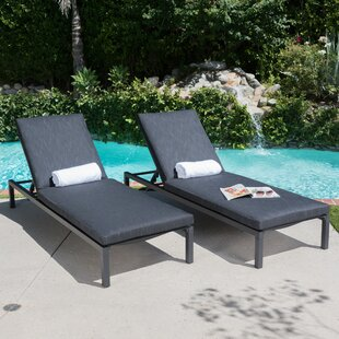 Lindauer Sun Lounger Set with Cushions (Set of 2)