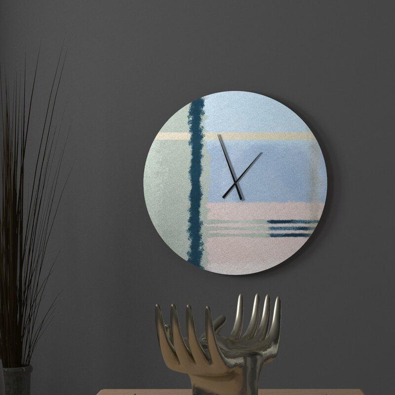 Ebern Designs Well Intentioned Hotshot Abstract Metal Wall Clock Wayfair
