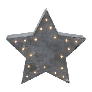 lighted star christmas table top decoration