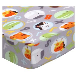 ABC Animals Fitted Crib Sheet BySheetworld