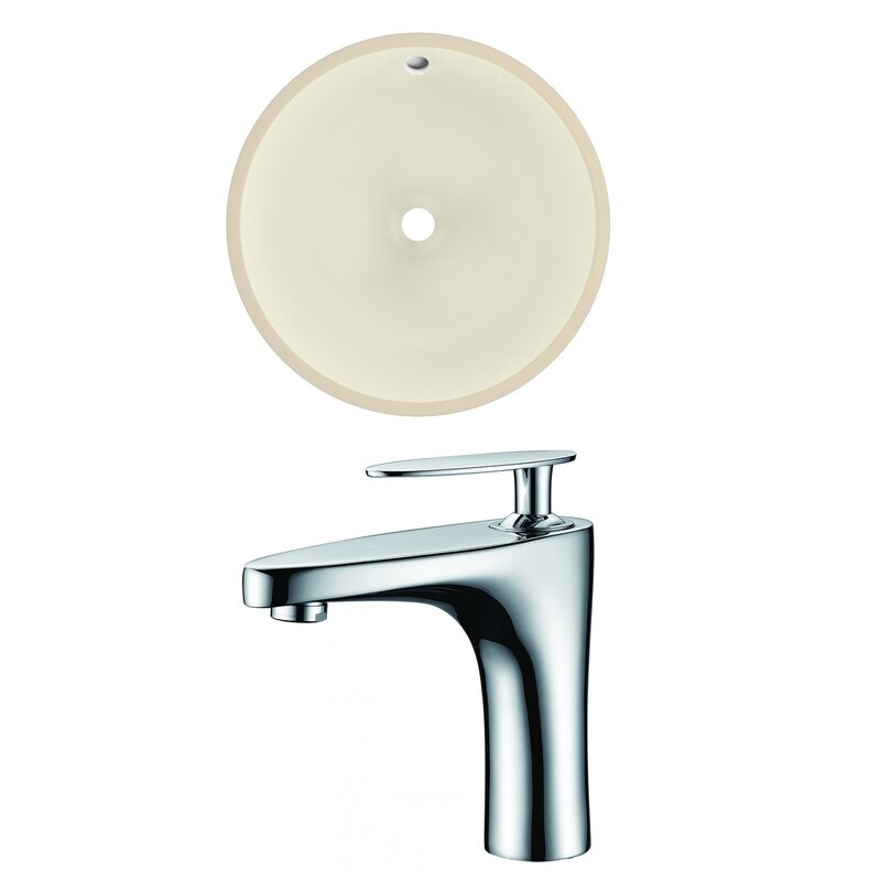 Avanities Ceramic Circular Undermount Bathroom Sink With Overflow And Faucet Wayfair
