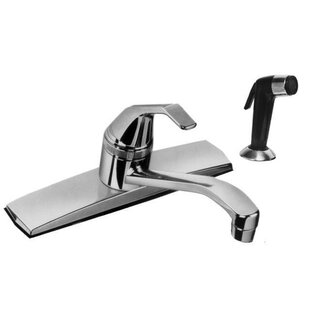 Just Manufacturing Single Handle Kitchen Faucet with Side Spray