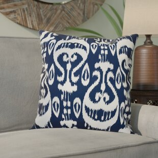 Crossett Ikat Geometric Outdoor Throw Pillow