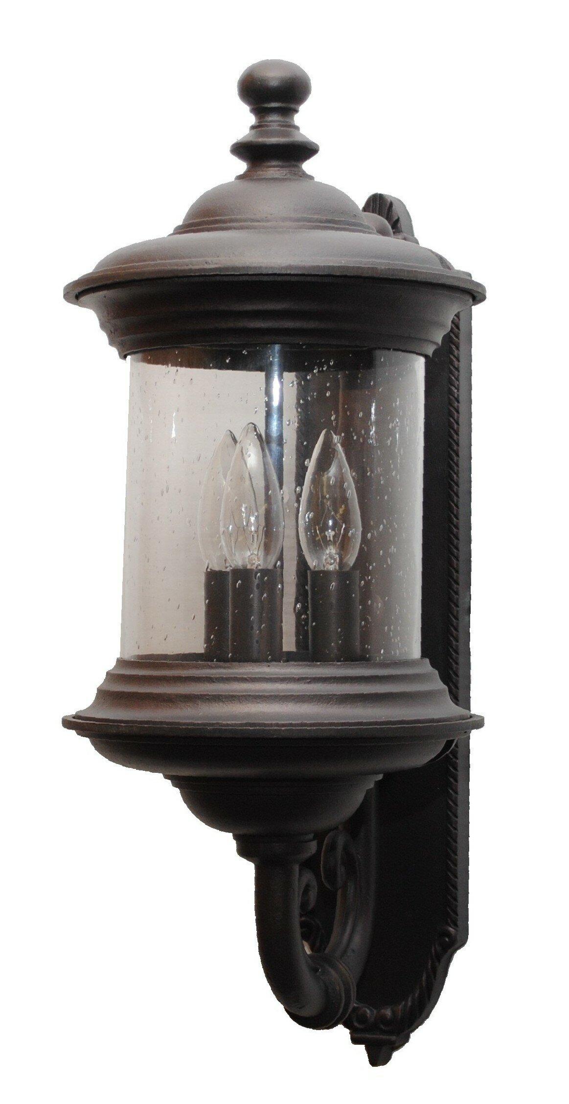 Alcott Hill Phillipstown 3 Light Outdoor Wall Lantern Wayfair