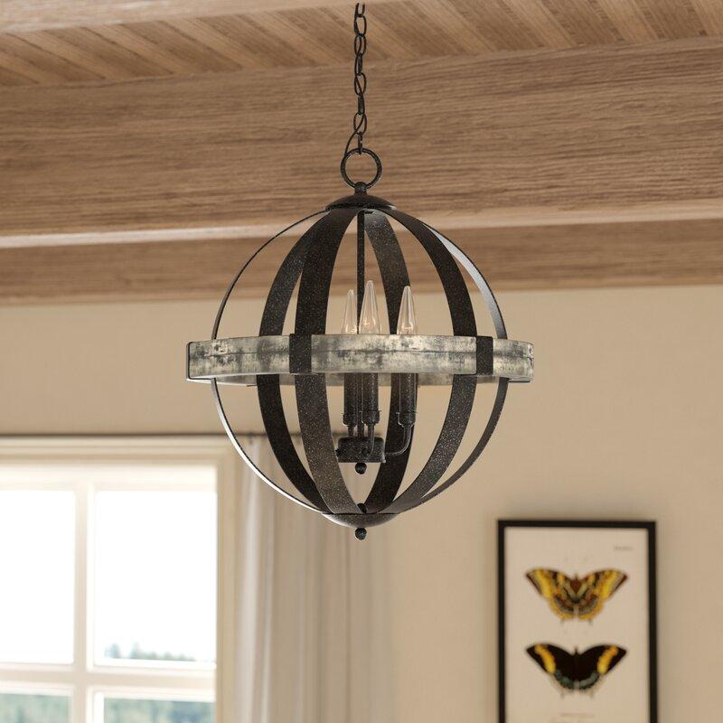 Pearl 4 Light Globe Chandelier