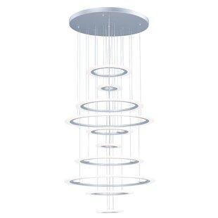 Orren Ellis Cassiopeia 10-Light LED Cluster Pendant