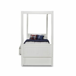 Oakwood Canopy Bed with Drawers