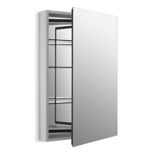 Reviews Catalan 24-1/8 x 36 Aluminum Single-Door Medicine Cabinet with 170 Degree Hinge By Kohler