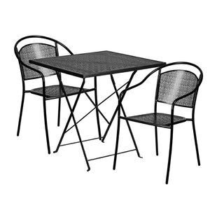 Mirabel Outdoor Steel 3 Piece Dining Set ..