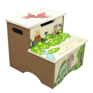 Dinosaur Kingdom Kids Step Stool with Storage by Fantasy Fields